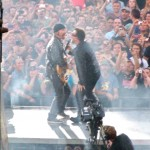 Bromance between The Edge and Bono, typical. <i>Photo by Ania Owczarczyk</i>.
