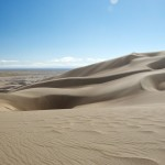 "Great Sand Dunes National Park: At the ""peak"" of one of the mid-sized dunes. <i>Photo by Ania Owczarczyk<i>."
