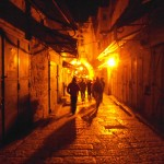 Jerusalem, 2012: Walking through the old Arab market to catch sunrise over the temple mount. <i>Photo by Sarah Baruch.</i>