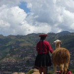 Peru, 2012: Traditionally dressed Peruvian woman overlooking Cusco. <i>Photo by Sarah Baruch.</i>