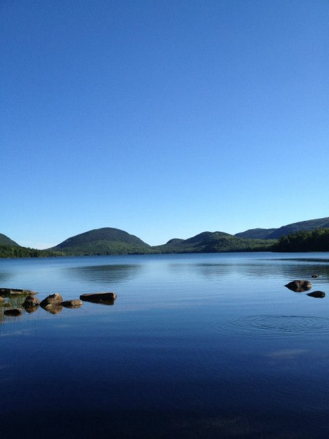 Eagle Lake, Acadia National Park, Maine. Taken by K. Brieger.