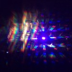 Katy Perry, in concert, through prism glasses. <i>Photo by Sara Walker.</i>